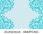 template invitation card with... | Shutterstock .eps vector #686891461