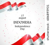 17 august. indonesia happy... | Shutterstock .eps vector #686895931