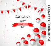 17 august. indonesia happy... | Shutterstock .eps vector #686895955