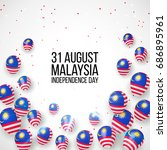 31 august. malaysia...   Shutterstock .eps vector #686895961
