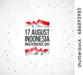 17 august. indonesia happy... | Shutterstock .eps vector #686895985