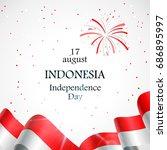 17 august. indonesia happy...   Shutterstock .eps vector #686895997