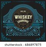 vintage design for labels.... | Shutterstock .eps vector #686897875