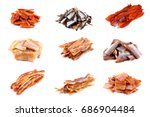 Different Kinds Of Dried Fish....