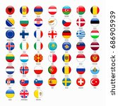 set of flags of all countries... | Shutterstock . vector #686905939