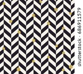 chevron black pattern and... | Shutterstock .eps vector #686911579