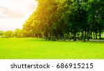 green park. green park in city... | Shutterstock . vector #686915215
