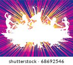 party dance flyer background... | Shutterstock .eps vector #68692546