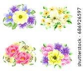 flower set | Shutterstock .eps vector #686926597