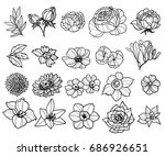 flower set | Shutterstock . vector #686926651