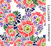 abstract elegance seamless... | Shutterstock . vector #686927971