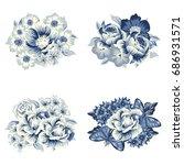 flower set | Shutterstock . vector #686931571