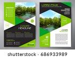 business brochure. flyer design.... | Shutterstock .eps vector #686933989