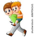 vector illustration of big... | Shutterstock .eps vector #686936161