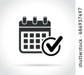 illustration of calendar with... | Shutterstock .eps vector #686937697