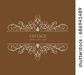 vintage frame background shape... | Shutterstock .eps vector #686941489