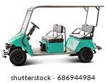 Golf Cart Or Golf Car Isolated...