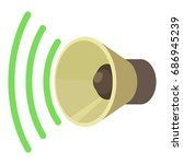 sound louder icon. cartoon... | Shutterstock .eps vector #686945239