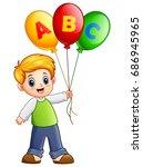 vector illustration of cartoon... | Shutterstock .eps vector #686945965