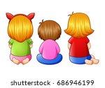 vector illustration of back... | Shutterstock .eps vector #686946199