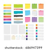 set of sticky note and torn... | Shutterstock .eps vector #686947399