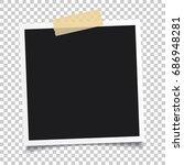 vector photo frame.set of... | Shutterstock .eps vector #686948281