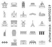 construction icons set. outline ... | Shutterstock .eps vector #686950219