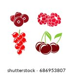 berries. vector illustration.... | Shutterstock .eps vector #686953807