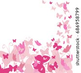 beautiful greeting card with... | Shutterstock .eps vector #686958799