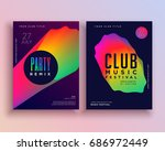 vibrant music party flyer... | Shutterstock .eps vector #686972449