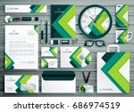 corporate business stationery... | Shutterstock .eps vector #686974519