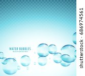 blue water bubbles vector...   Shutterstock .eps vector #686974561