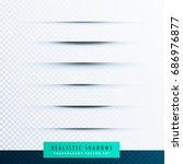 transparent paper line shadow...   Shutterstock .eps vector #686976877