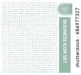 business icon set vector | Shutterstock .eps vector #686977327