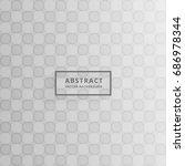 gray pattern design vector... | Shutterstock .eps vector #686978344