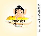 cute bal ganesha face with...