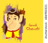 cute bal ganesha character... | Shutterstock .eps vector #686983321