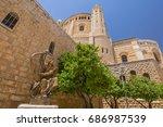 king david of israel playing... | Shutterstock . vector #686987539