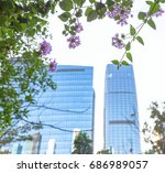 urban architecture detail shot... | Shutterstock . vector #686989057