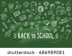 concept of education. school... | Shutterstock .eps vector #686989081