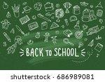 concept of education. school... | Shutterstock .eps vector #686989081