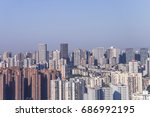 chongqing beautiful scenery and ... | Shutterstock . vector #686992195
