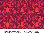 endless christmas pattern.... | Shutterstock .eps vector #686992507