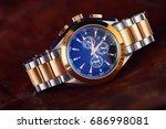 expensive man wrist watch in... | Shutterstock . vector #686998081