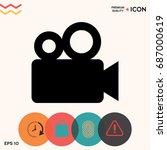 movie camera icon   Shutterstock .eps vector #687000619