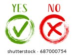 yes and no acceptance and... | Shutterstock .eps vector #687000754