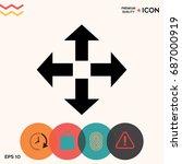 move icon | Shutterstock .eps vector #687000919