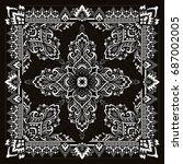 paisley bandana print | Shutterstock .eps vector #687002005