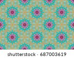 spring summer time. holidays... | Shutterstock . vector #687003619