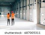 maintenance engineering on... | Shutterstock . vector #687005311